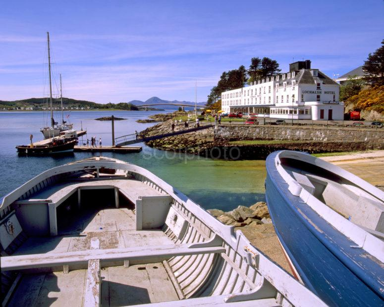 View From Kyle Of Lochalsh Towards Skye Bridge And Cuillins
