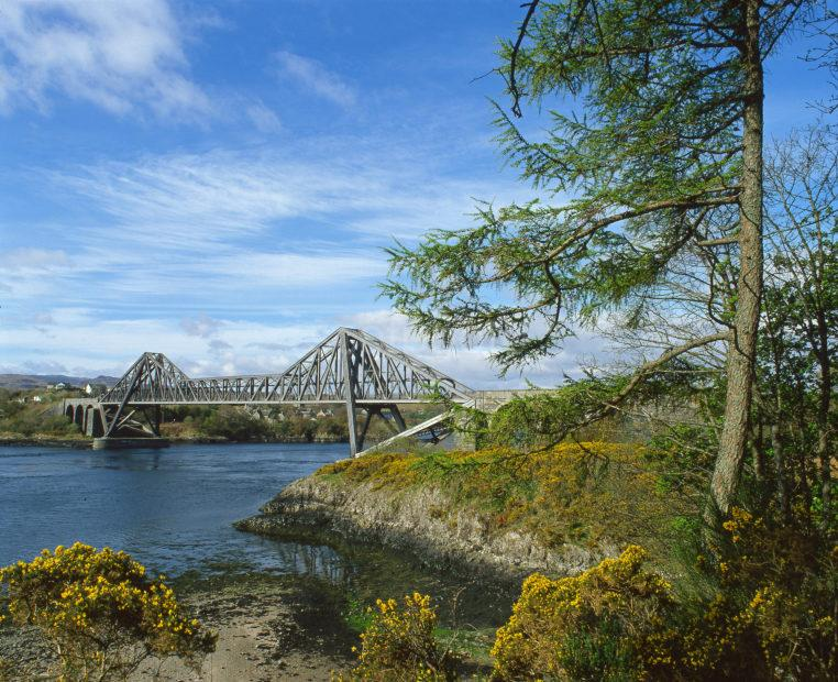 Connel Bridge Over Loch Etive Seen From The North Side Argyll