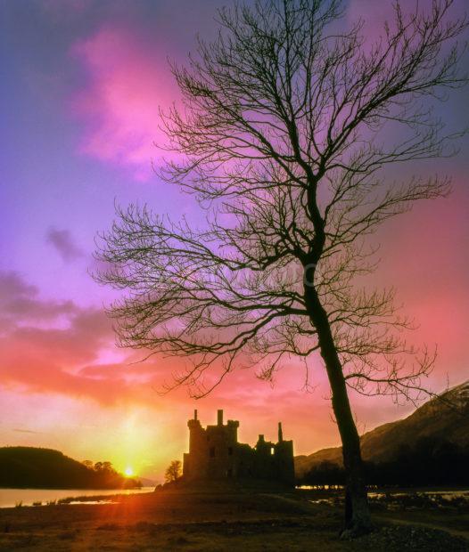 Sunset Silhouette Kilchurn Castle