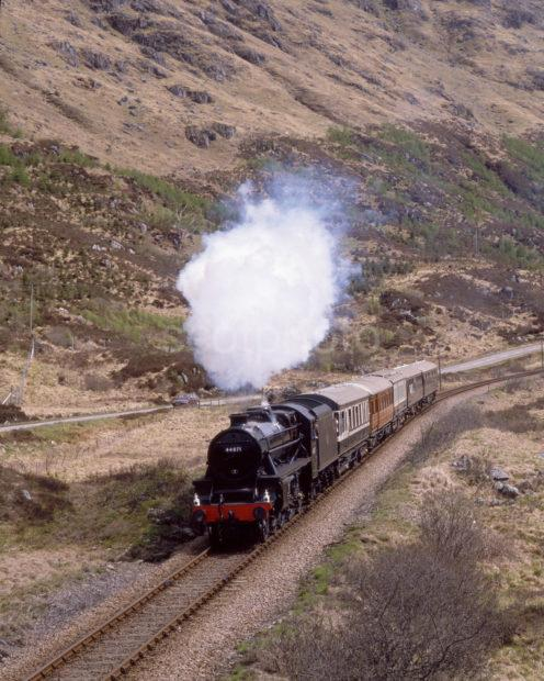 Bllack Five 44871 Hauling The Royal Scotsman Towards Glenfinnan