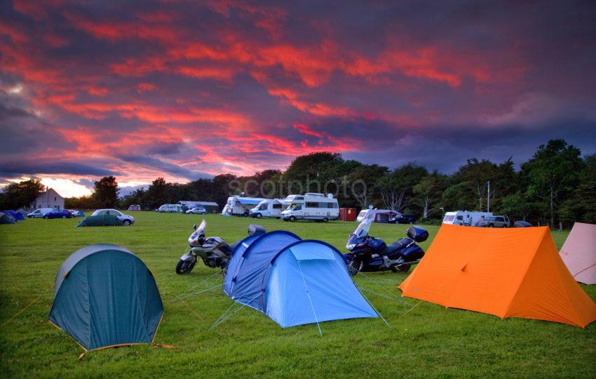 Dramatic Sunset Over Caravan And Camping Site 2