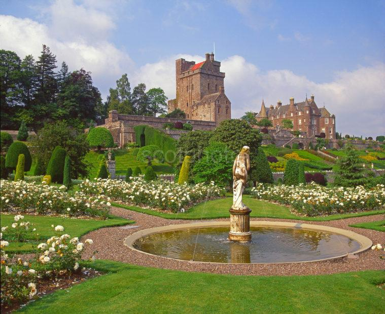 Beautiful Landscaped Gardens At Drummond Castle Near Crieff Perthshire