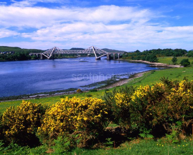 Springtime On Loch Etive Towards Connel Bridge North Connel Argyll