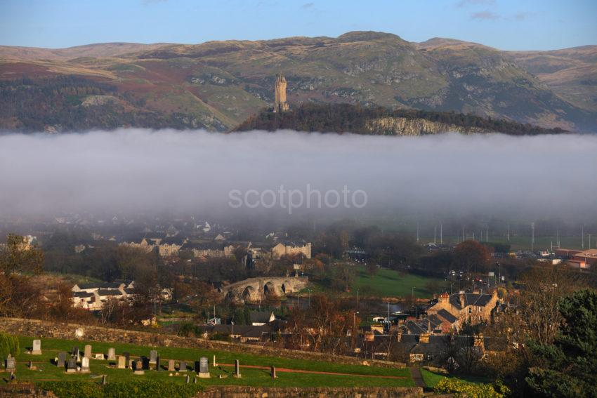 View From Castle Towards Wallace Monument Stirling