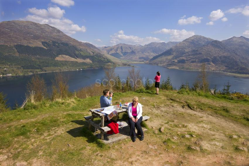 Tourists Take In The Views Around Loch Duich MAM RATACHAN