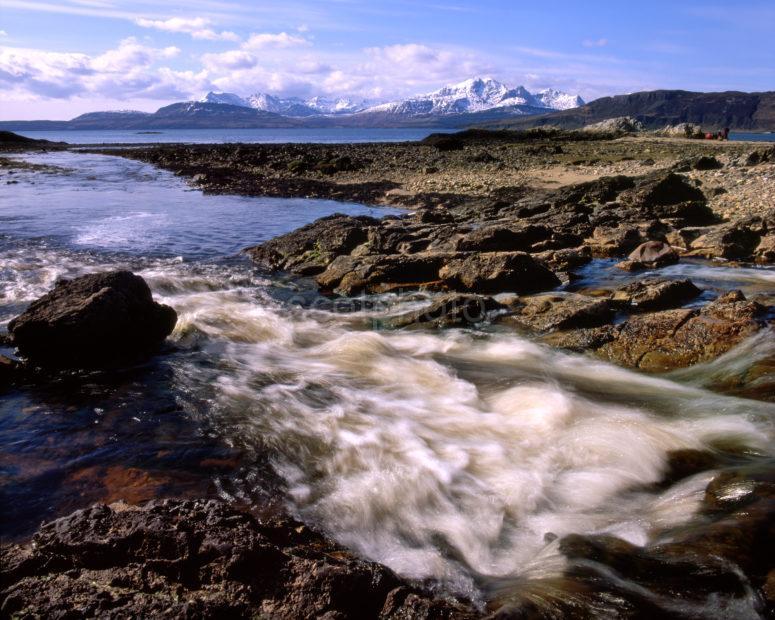 Rugged Shore In Gauskavaig Bay Towards The Cuillins Isle Of Skye