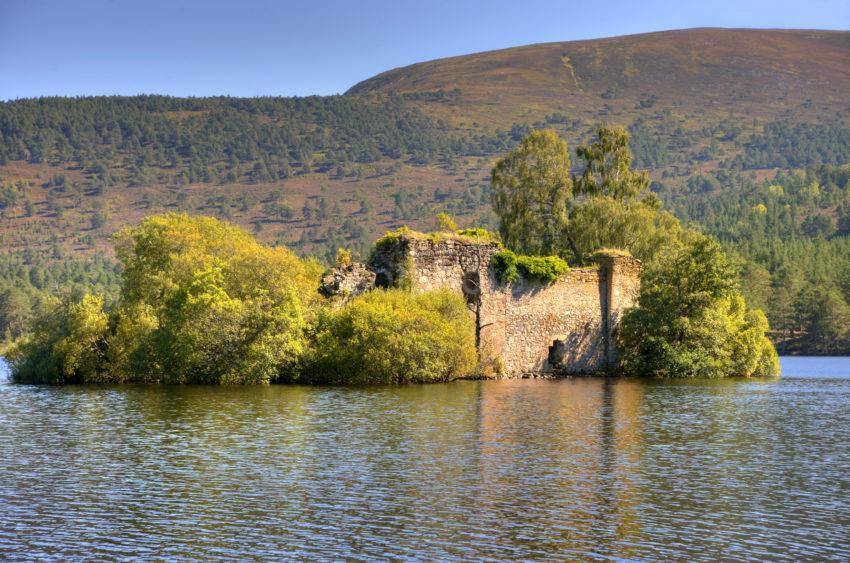 Castle Ruin On Loch An Eilein Rothiemurchus Forest