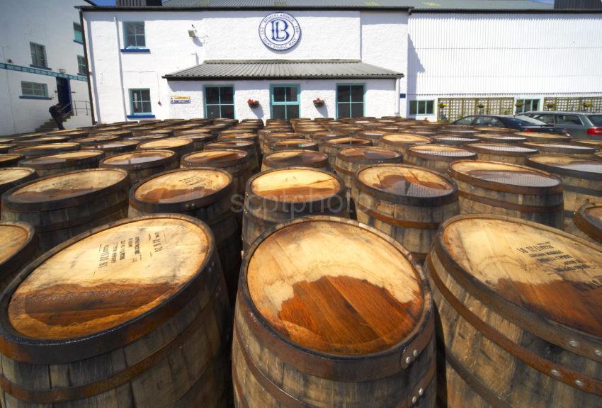 Barrels At Bruichladdich Distillery Island Of Islay