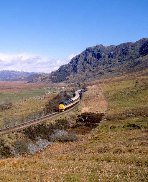 Class 37 Hauling The West Highlander From Morar West Highland Line