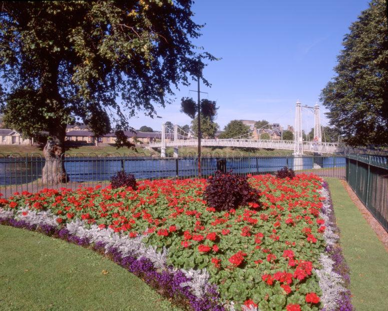 War Memorial Gardens On River Ness In City Of Inverness