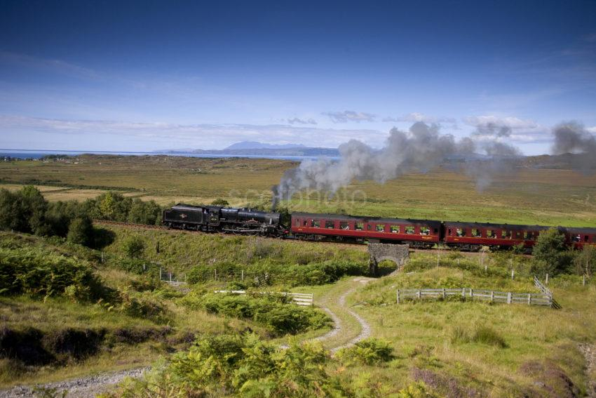 Steam Loco 45231 Sherwood Forester Nr Arisaig With Mallaig To F William Train