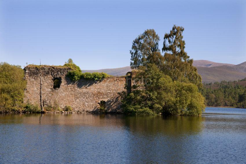 Ruins Of Lochan Eilein Castle Rothiemurchas Forest