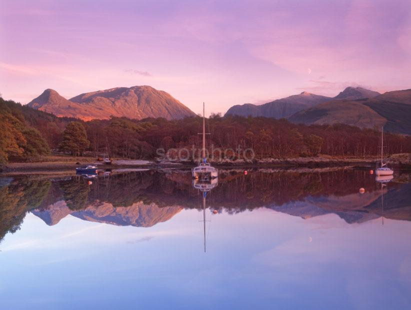 Pap Of Glencoe From Bishops Bay Loch Leven