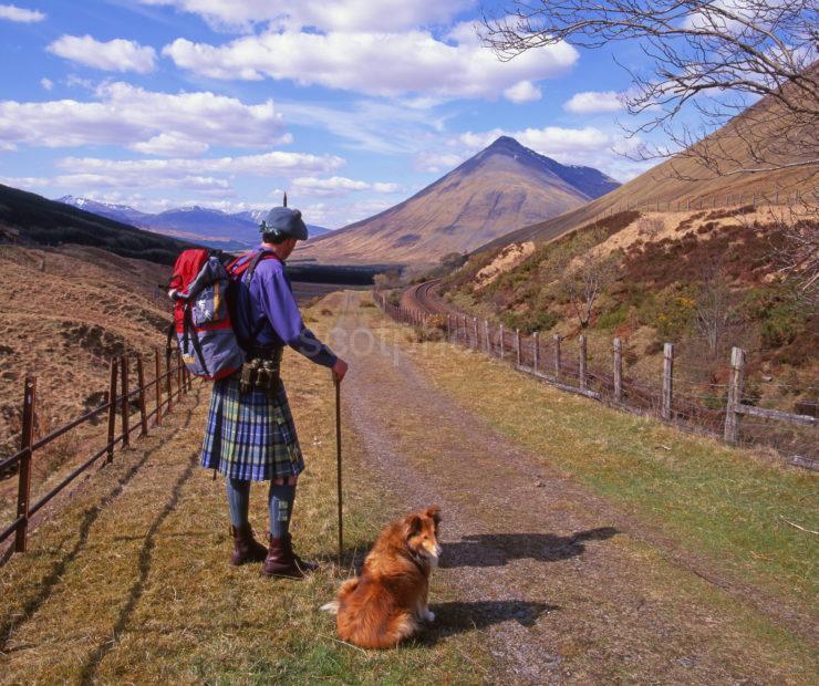 Hiker West Highland Way Tyndrum