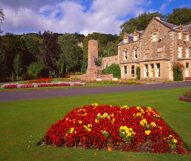 Beautiful Gardens And Museum At Milton Lodge Park Near Hawick Scottish Borders
