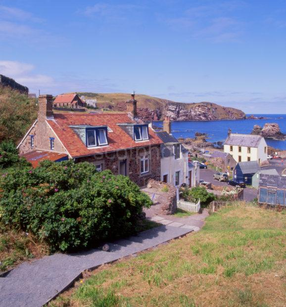 St Abbs Village And Harbour Berwickshire Cropped
