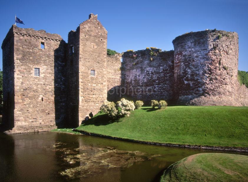Moated Rothesay Castle Island Of Bute