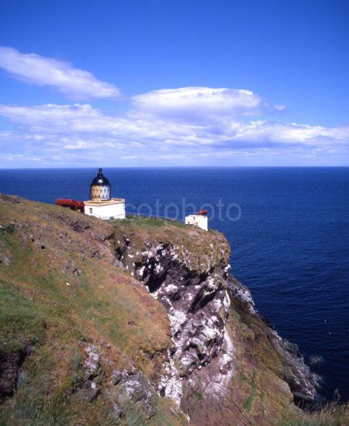 Lighthouse At St Abbes Head Bewickshire