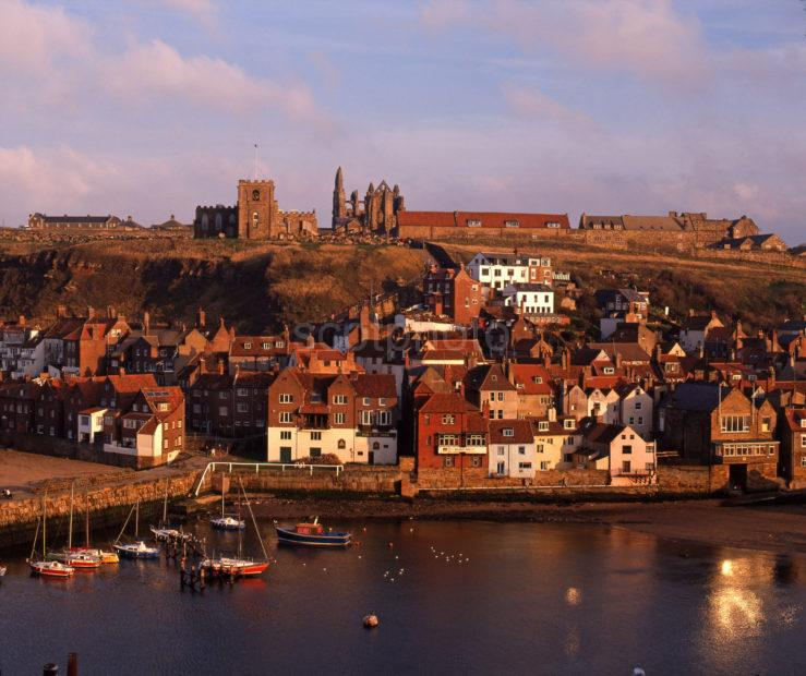 Warm Evening Light Over Whitby