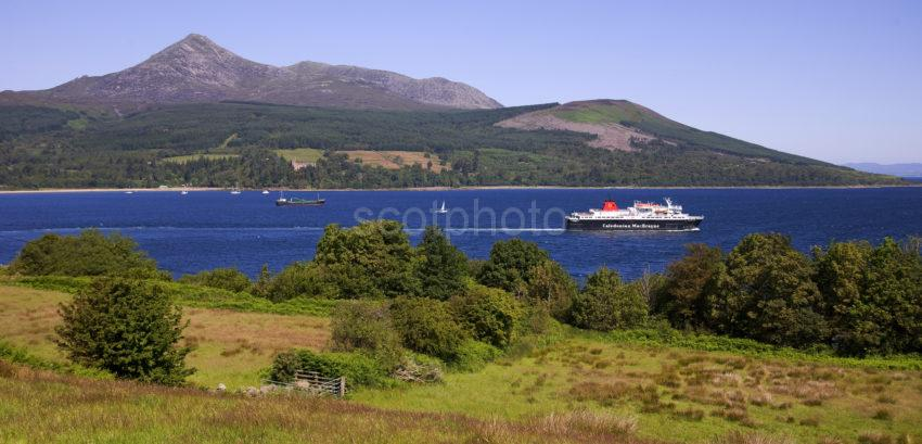The Caledonian Isles Departs Brodick Summer 2011 Arran