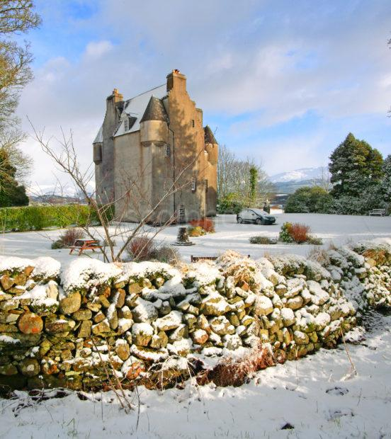 Barcaldine Castle In The Snow Ledaig Argyll JPG