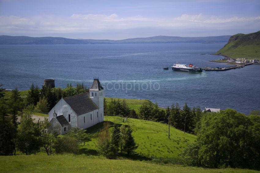 MV Hebrides Arrives At Uig Isle Of Skye