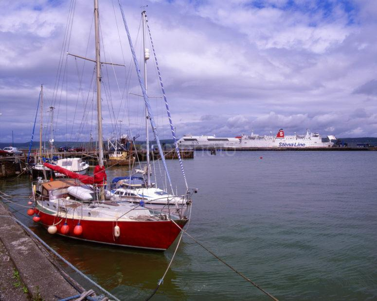 Stranraer Harbour With Irish Ferries Dumfries And Galloway