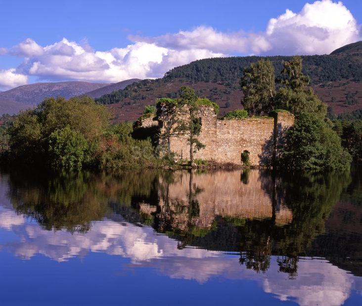 Lochan Eilean Castle Rothiemurchus Forest Glenmore