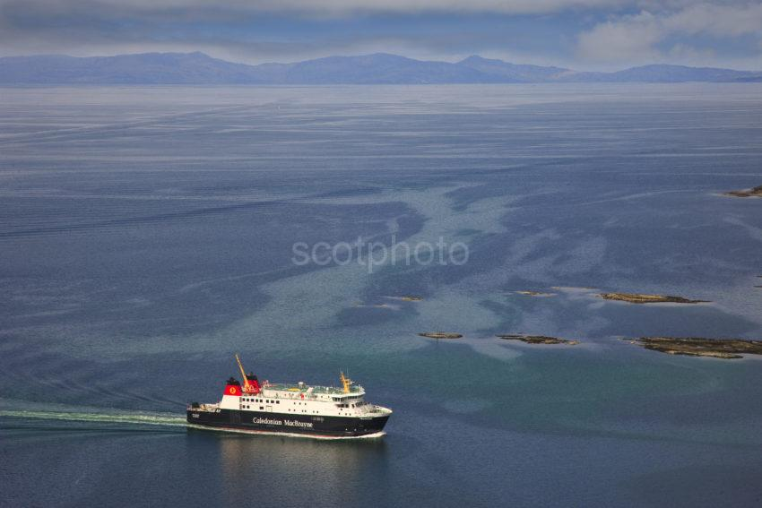 MV Finlaggan Enters West Loch Tarbert With Islay In View
