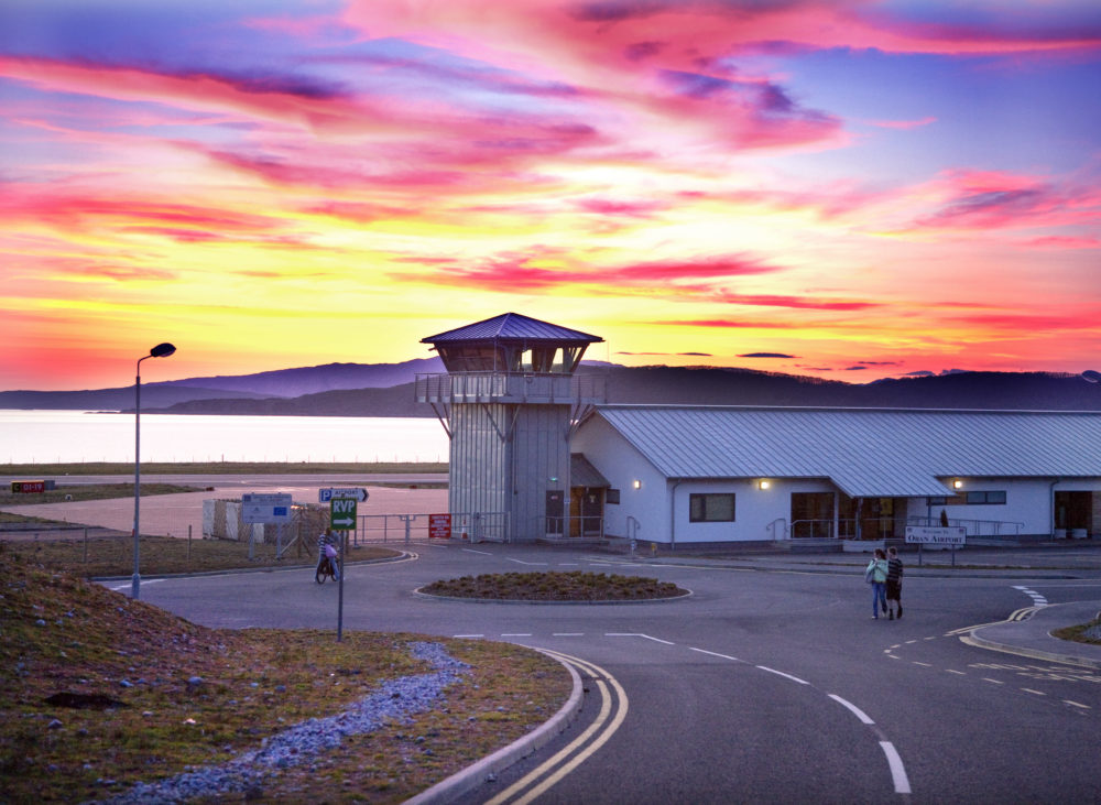 Oban Airport At Sunset