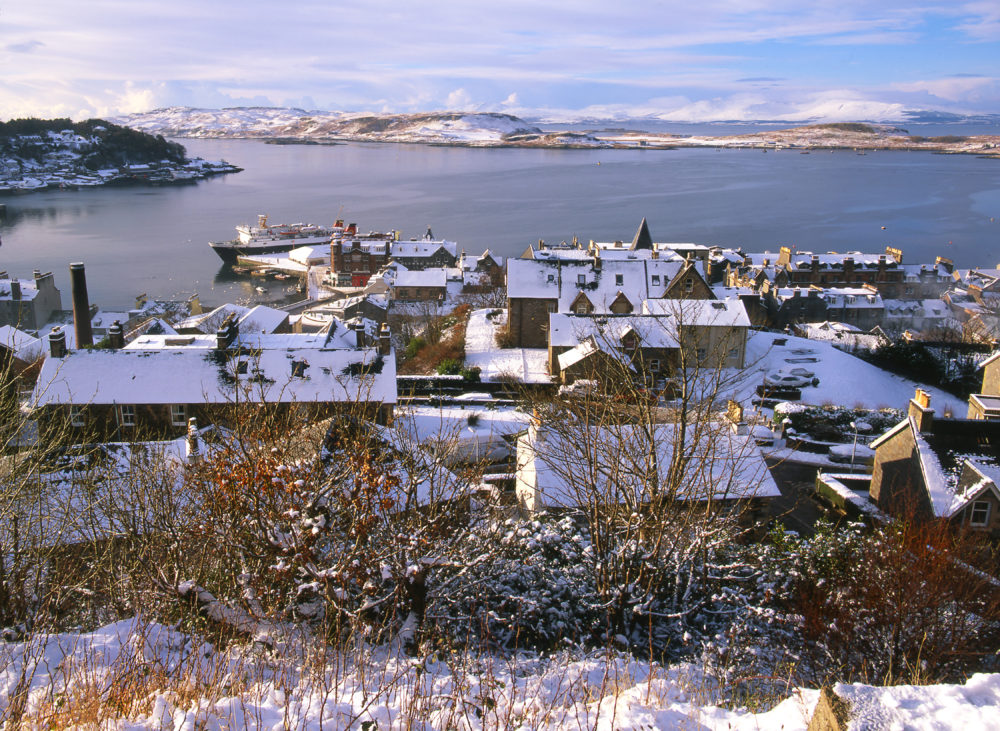 Winter View From MaCaigs Tower Across Oban Bay Argyll