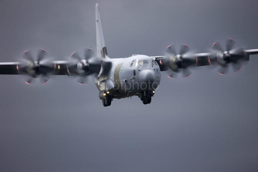 I5D3418 Hercules C130J On Approach To Oban Airport