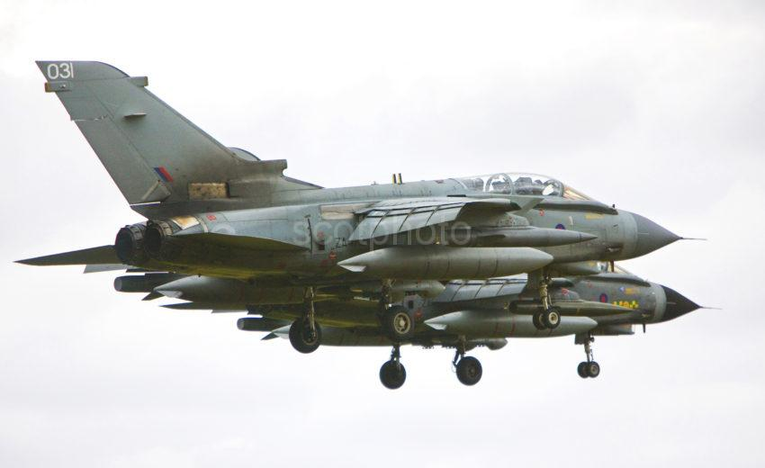 0I5D0683 PAIR OF TORNADO S APPROACH LOSSIE MORAYSHIRE
