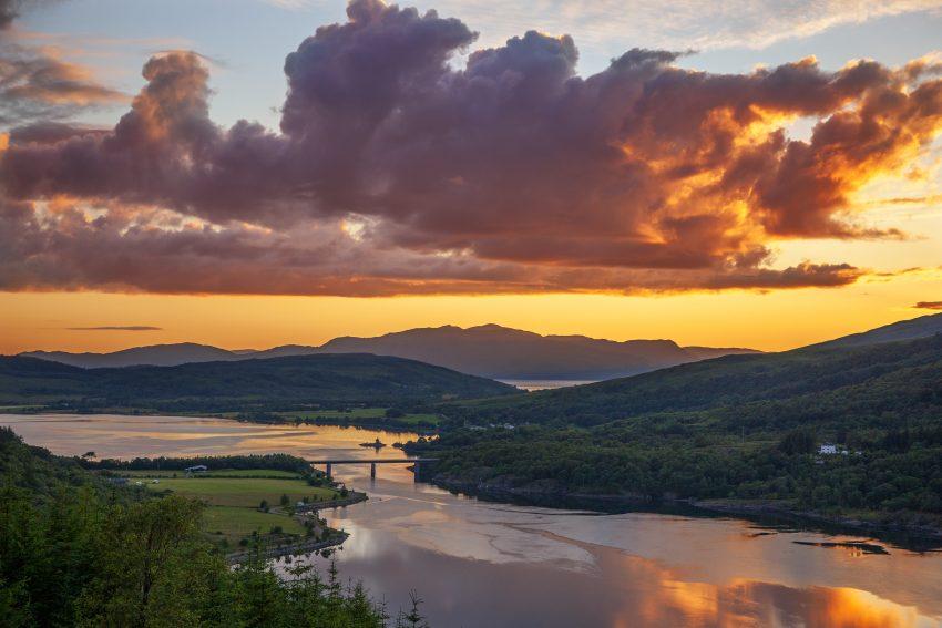 1Z6E8915 Sunset Over Loch Creran