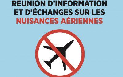 Nuisances aériennes : réunion publique mardi 11 juin à Scène 55