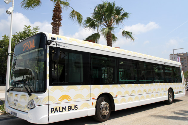 COVID-19 Limitation des transports Palm Bus