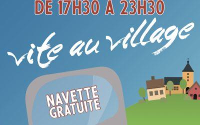 La navette «Vite au Village» de retour du 8 juillet au 25 août