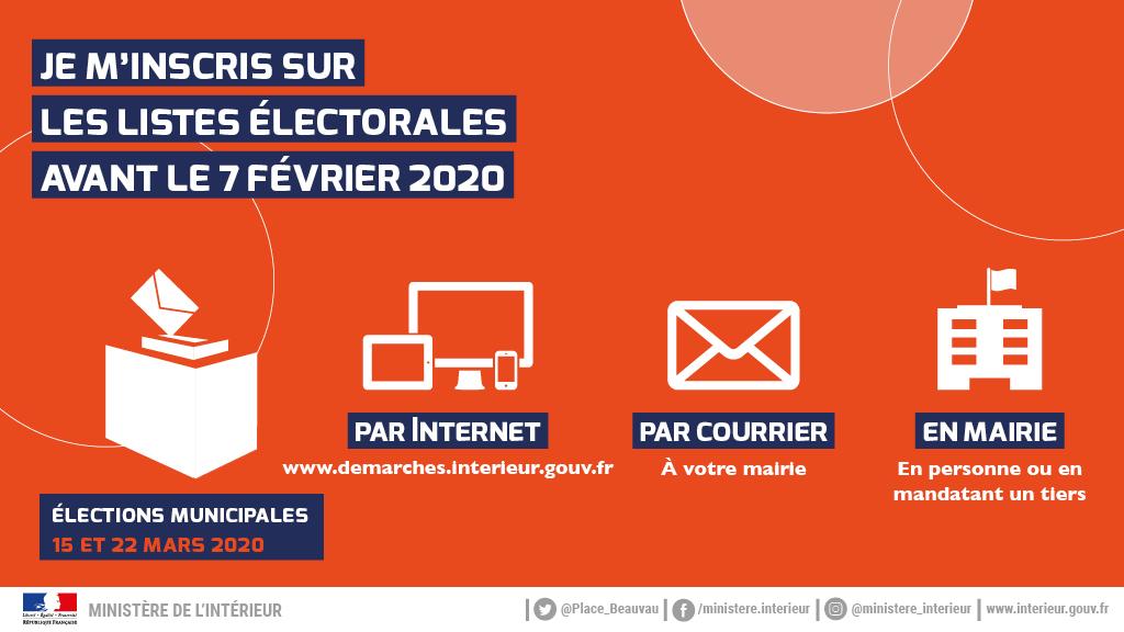 NOUVEAU ! Élections: jusqu'au 7 février pour vous inscrire sur les listes électorales