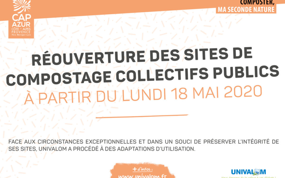 Réouverture des sites de compostage collectifs dès le 18 mai et sous conditions