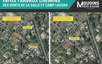 Création de trottoirs sur les chemins des Horts de la Salle et du Camp Lauvas