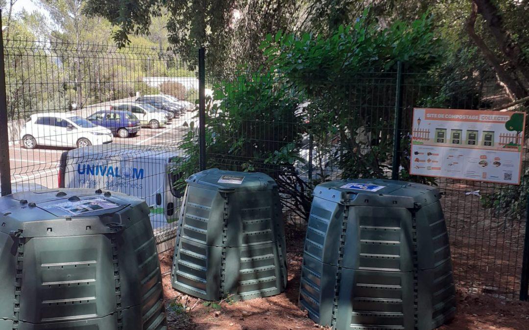 Une nouvelle aire collective de compostage à Mougins-le-Haut