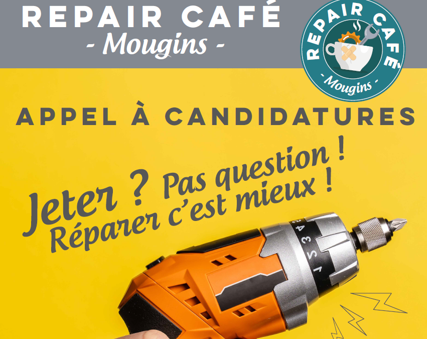 Repair Café : Appel à candidature !
