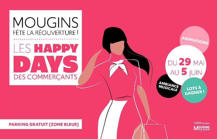 Happy days : votre rendez-vous pour fêter la réouverture des commerces mouginois
