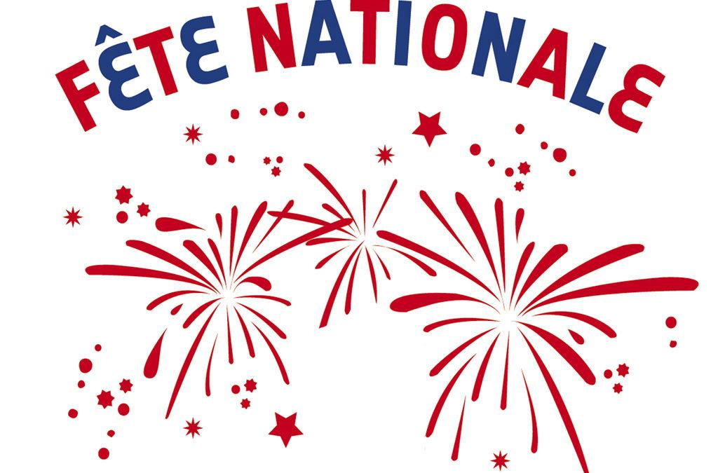 Fête Nationale : commémoration, soirée bal et feu d'artifice, avec système de navettes