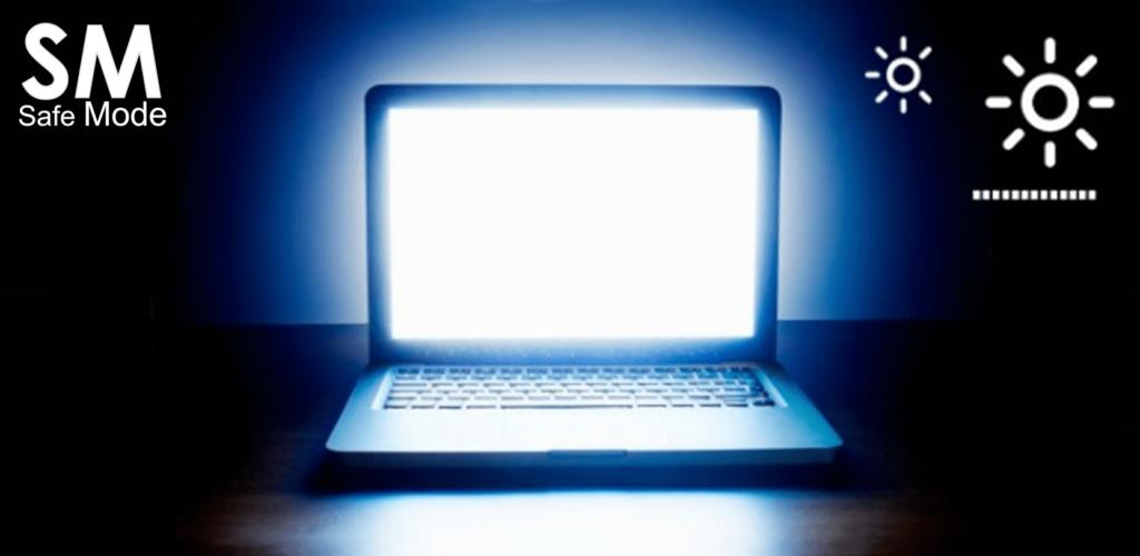 ajusta el brillo en pantallas