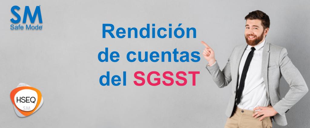 Como hacer rendicion de cuentas SST