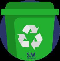 Caneca verde para residuos ordinarios punto ecológico