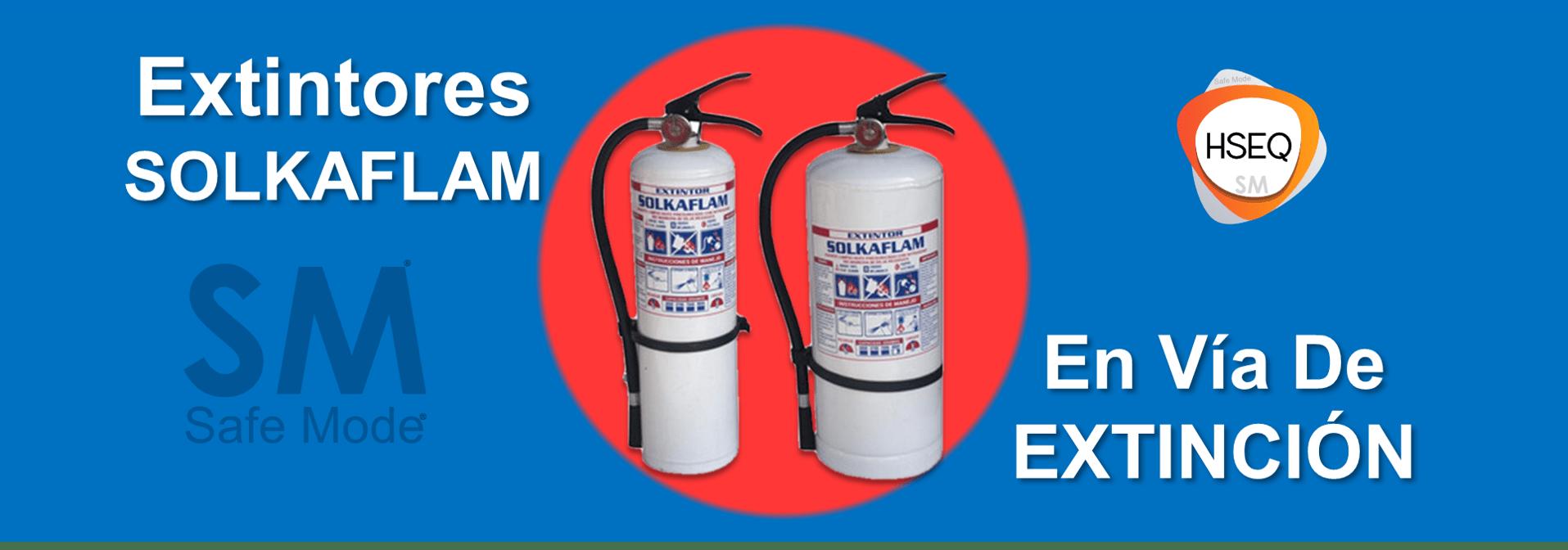 Extintores Solkaflam en vía de extinción
