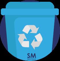 Caneca Azul para plásticos punto ecológico
