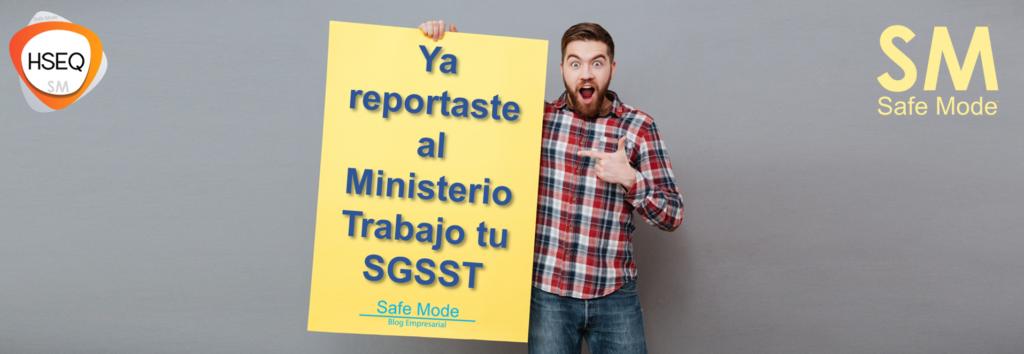 ya reportaste el SGSST